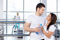 Couple in fitness club Royalty Free Stock Photo