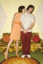 Couple flirting. Royalty Free Stock Photo