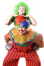 A couple of funny clowns Royalty Free Stock Image