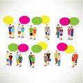 Couple gather and talking together vector design Royalty Free Stock Photography