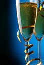 Couple glasses of champagne Royalty Free Stock Image