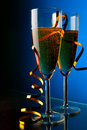 Couple glasses of champagne Royalty Free Stock Photos
