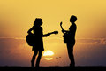 Couple with guitars