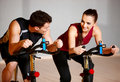Couple at the gym Stock Photography