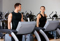 Couple at the gym Stock Images