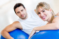 Couple at the gym Stock Photos