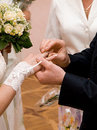 Couple hands at wedding ceremony Royalty Free Stock Image