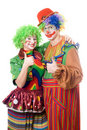 Couple of happy clowns Royalty Free Stock Image