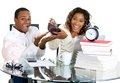 Couple happy at their savings Royalty Free Stock Photo