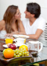 Couple having breakfast Royalty Free Stock Photo