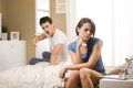 Couple having conflict Royalty Free Stock Photo