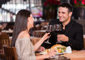 Couple having dinner Royalty Free Stock Photo