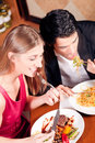 Couple having dinner together Stock Photo