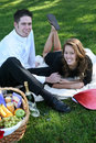 Couple Having Picnic Stock Image