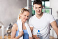 Couple in health club Stock Images