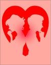 Couple Heart Royalty Free Stock Photography