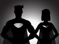 Couple Hero Silhouette Royalty Free Stock Photography