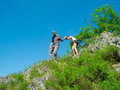 image photo : Couple hiking