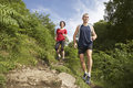 Couple Hiking On Trail Royalty Free Stock Photo