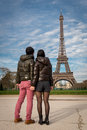 Couple honeymoon in Paris France Royalty Free Stock Photo