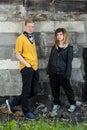 Couple of hooligans Royalty Free Stock Photo