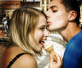 Couple and icecream Royalty Free Stock Photography
