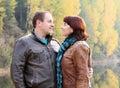 couple at the lake Royalty Free Stock Photo