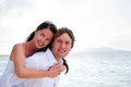Couple in love enjoying a summer holiday. Stock Photo