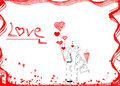 Couple in love hand drawn design idea of couple in love male an and girl for valentine s day on white background Royalty Free Stock Photo