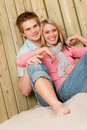 Couple in love - happy  enjoy summer Stock Photography