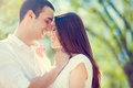 Couple in love happy smiling Stock Images