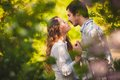 Couple in love kissing at summer park Royalty Free Stock Photography