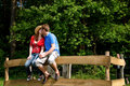 Couple love nature Royalty Free Stock Photos