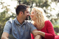 Couple in love nature Stock Photography