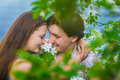 Couple in love in the spring park Royalty Free Stock Photography