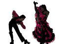 Couple man woman dancer dancing french cancan Royalty Free Stock Image