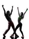 Couple man and woman exercising fitness zumba danc Royalty Free Stock Photo
