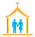 Couple married with church
