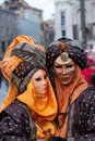 Couple masks in venice carnival Stock Photo