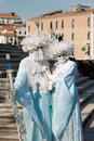 Couple masquerade in venice Royalty Free Stock Photos