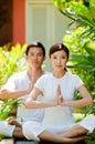 Couple Meditating Royalty Free Stock Image