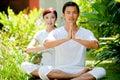 Couple Meditating Royalty Free Stock Photography