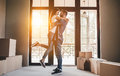 Couple moving in new house Royalty Free Stock Photo