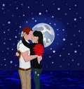 Couple at night Royalty Free Stock Photography