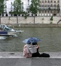 Couple in Paris Royalty Free Stock Images