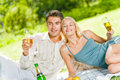 Couple at picnic Royalty Free Stock Photo