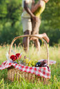 Couple picnicking Royalty Free Stock Photo