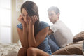 Couple problems relationship difficulties young having Royalty Free Stock Image