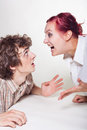 Couple quarrels Royalty Free Stock Images