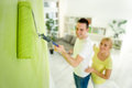 Couple renovation their apartment young or redecorated Royalty Free Stock Photo